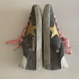 Golden Goose Shoes - Golden Goose Gray Suede Superstar Sneakers